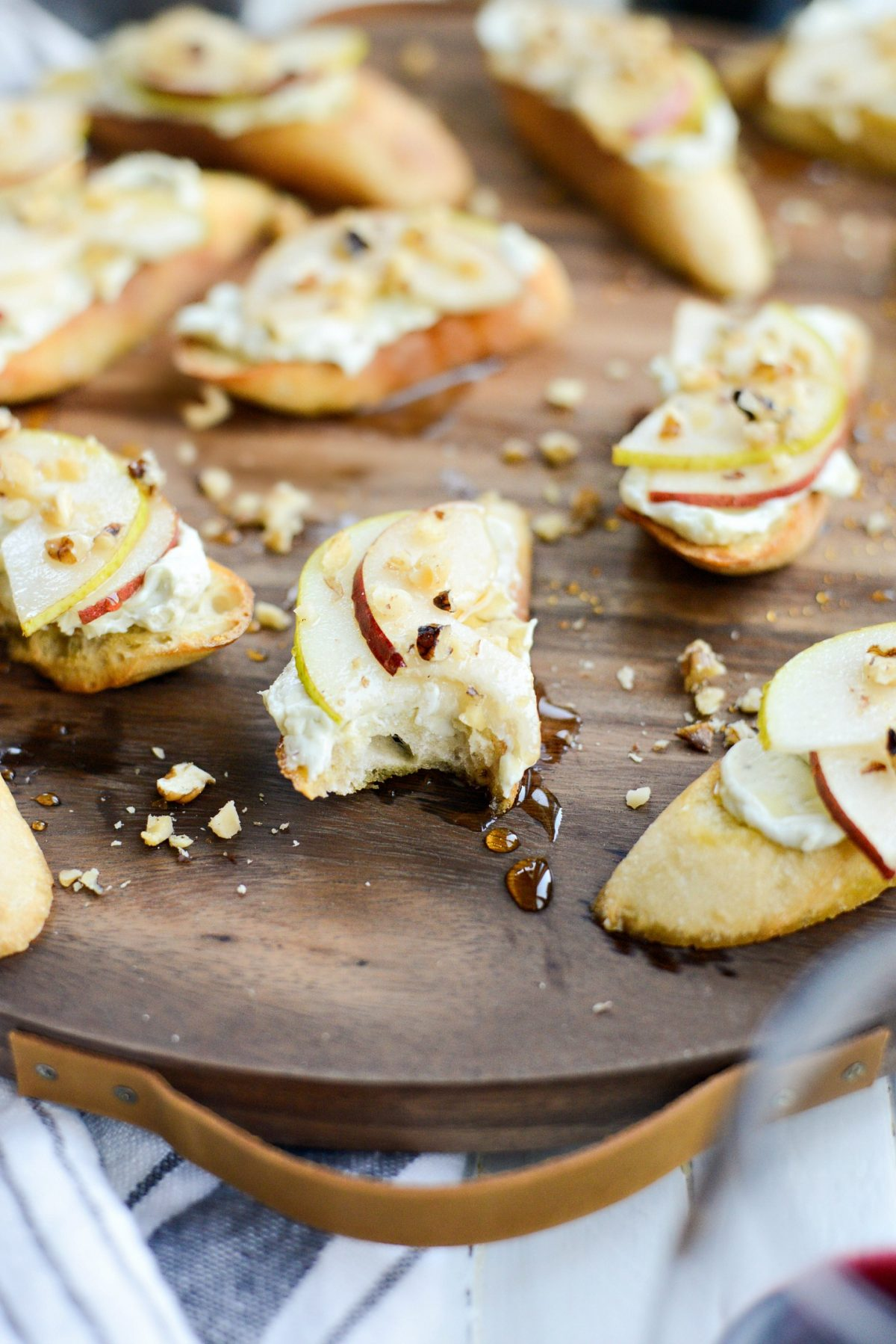 Whipped Blue Cheese Crostini with Pears and Honey l SimplyScratch.com (10)