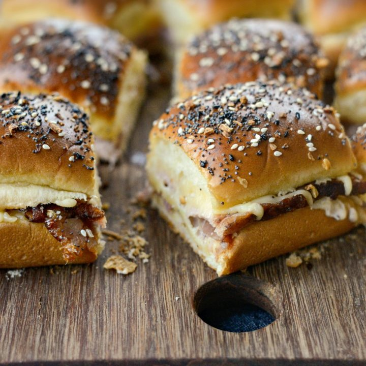 Ham and Gouda Party Sandwiches with Roasted Garlic Dijon Mayo