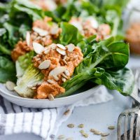 Gem Lettuce Wedges with Sundried Tomato Caesar Dressing