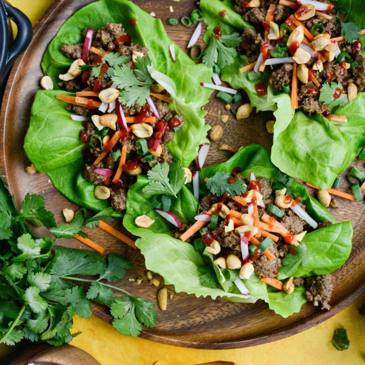 Easy Ginger Beef Lettuce Wraps