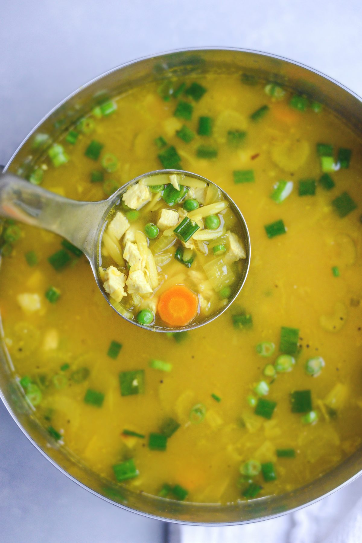 Golden Lemon Chicken Orzo Soup l SimplyScratch.com (11)