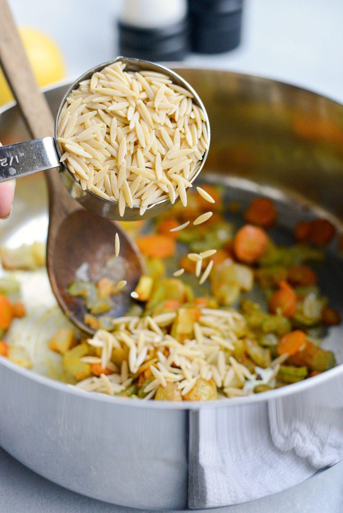 Golden Lemon Chicken Orzo Soup l SimplyScratch.com (4)