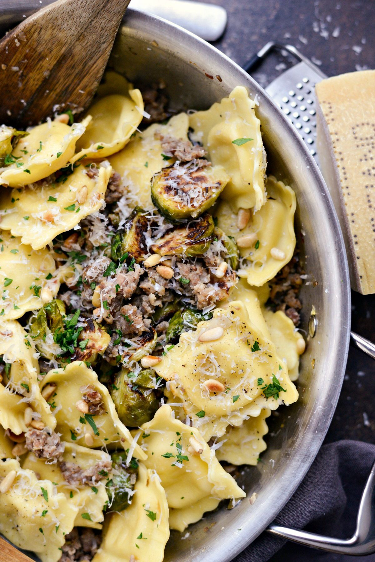 Italian Sausage Brussels Sprout Ravioli l SimplyScratch.com (0012)