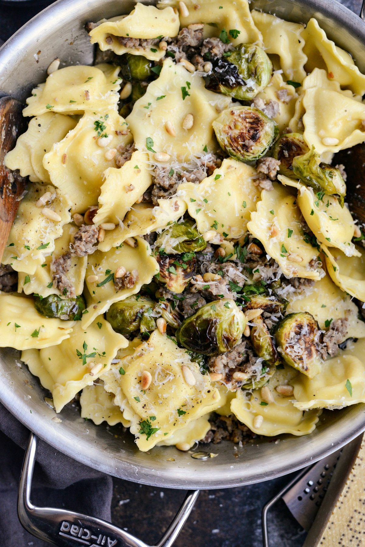 Italian Sausage Brussels Sprout Ravioli l SimplyScratch.com (010)