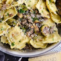 Italian Sausage Brussels Sprout Ravioli