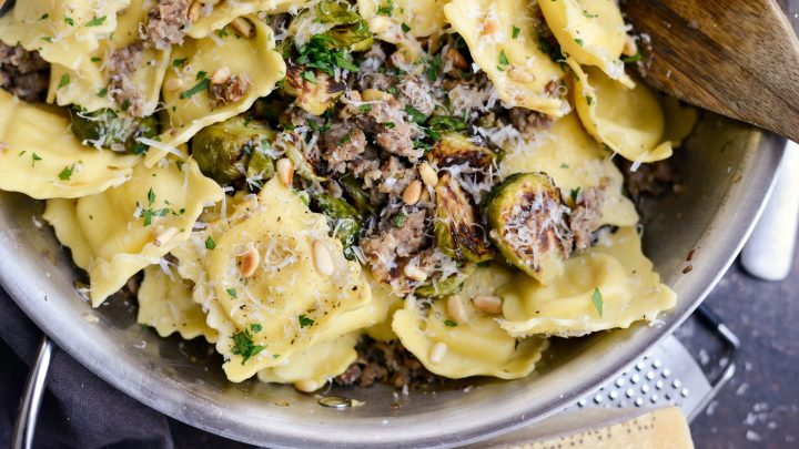 Italian Sausage Brussels Sprout Ravioli Simply Scratch