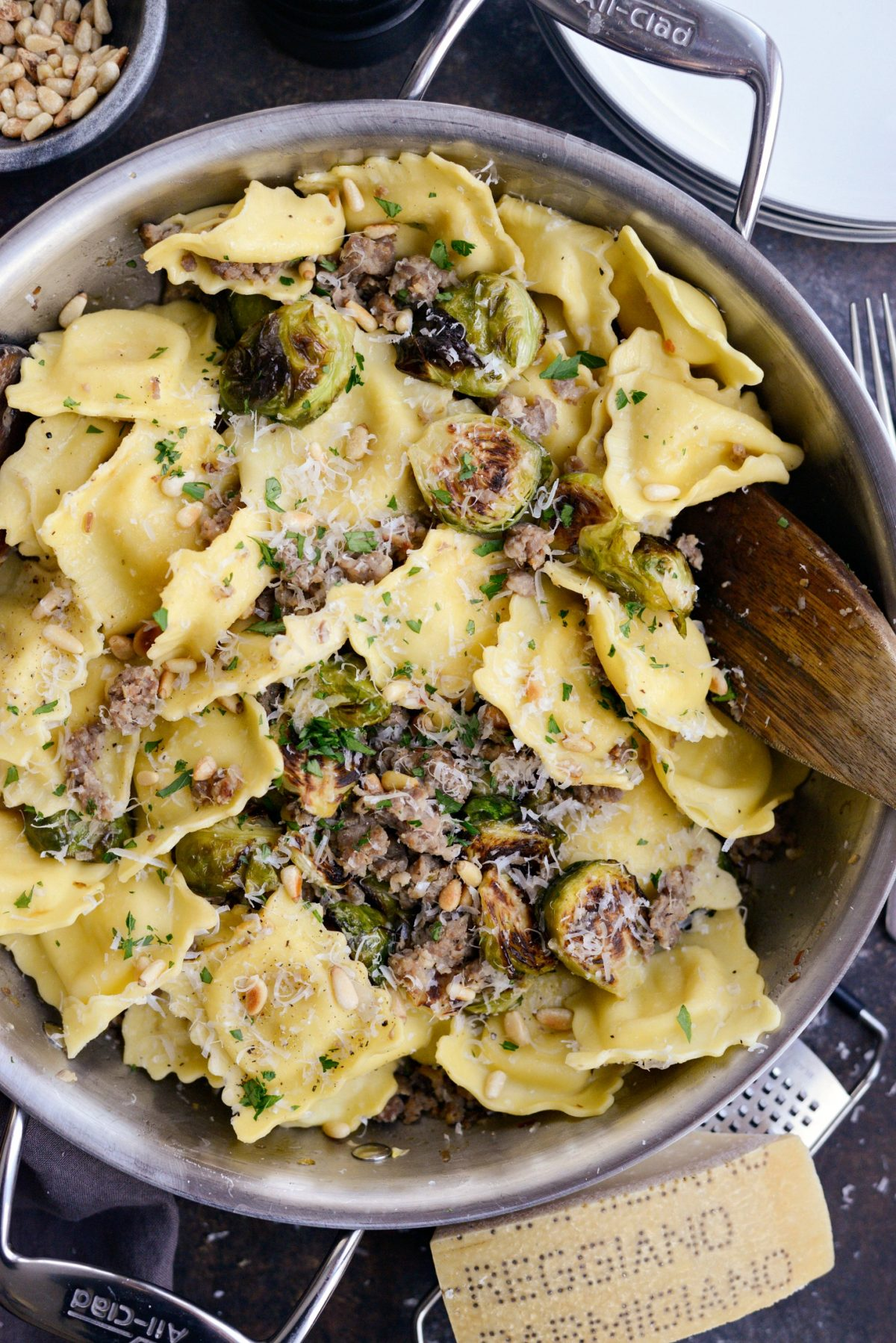 Italian Sausage Brussels Sprout Ravioli l SimplyScratch.com (13)