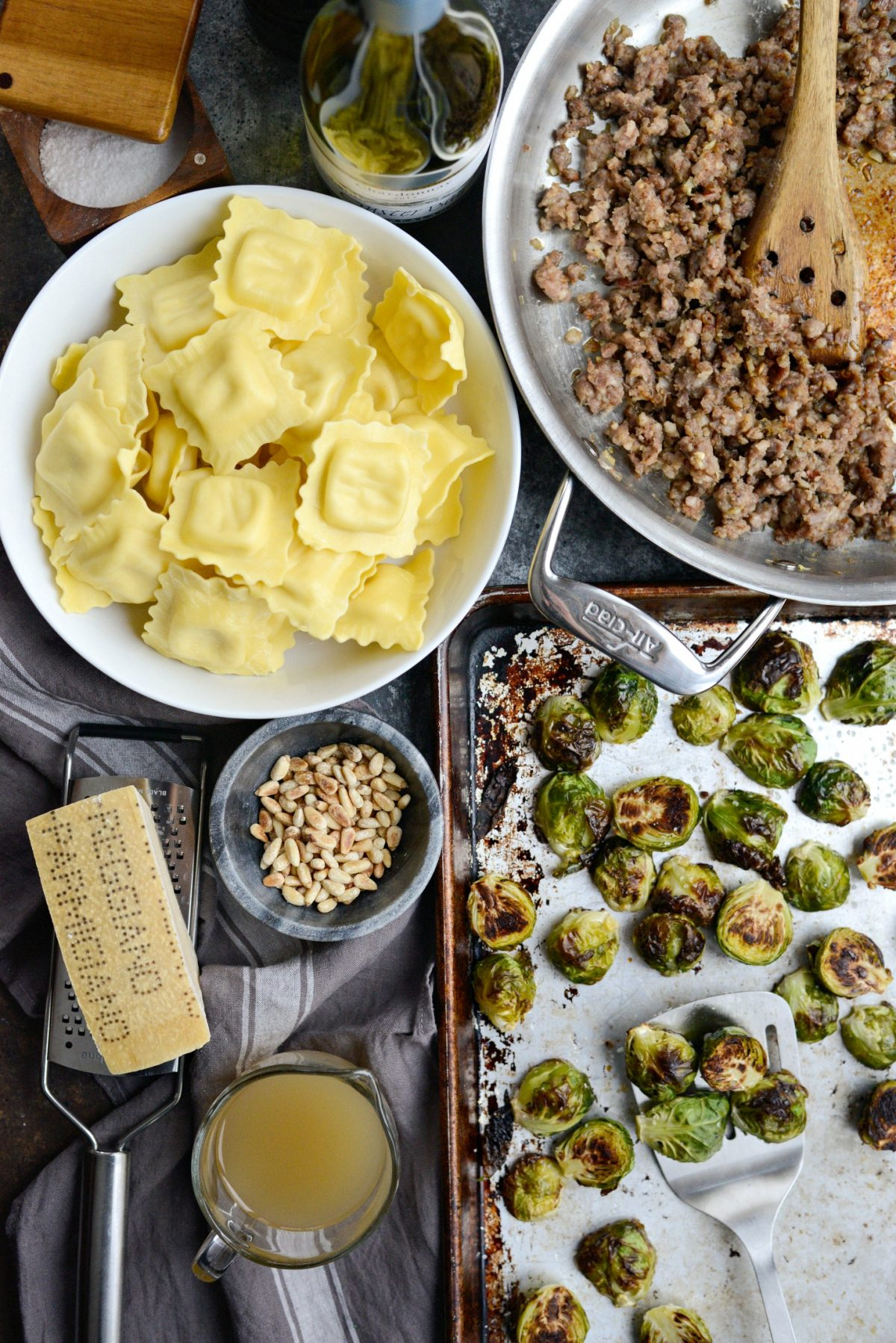 Italian Sausage Brussels Sprout Ravioli l SimplyScratch.com (4)