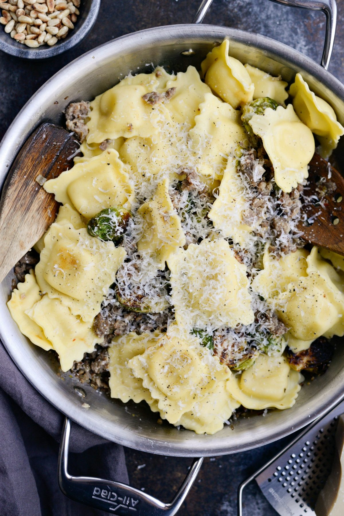 Italian Sausage Brussels Sprout Ravioli l SimplyScratch.com (9)