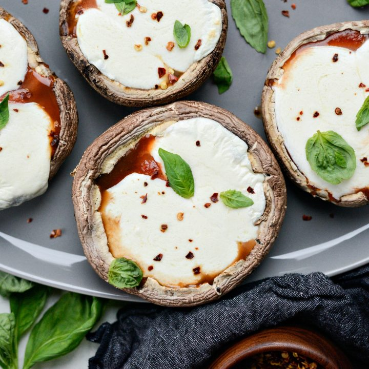 Roasted Caprese Portobello Mushrooms