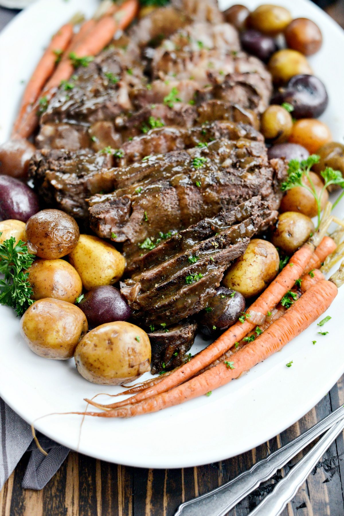 Slow Cooker Balsamic Dijon Pot Roast l SimplyScratch.com (10)