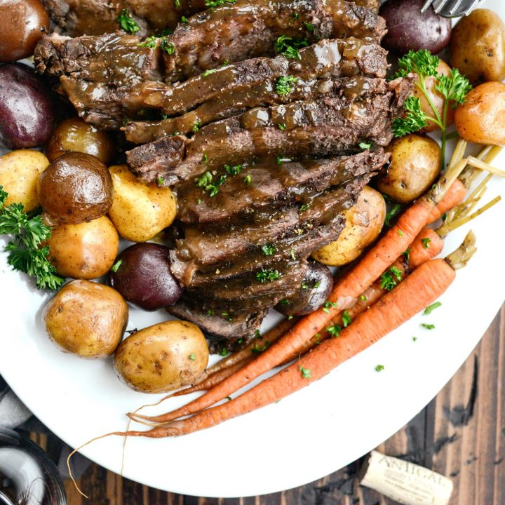 Slow Cooker Balsamic Dijon Pot Roast (Freezer Meal Kit)