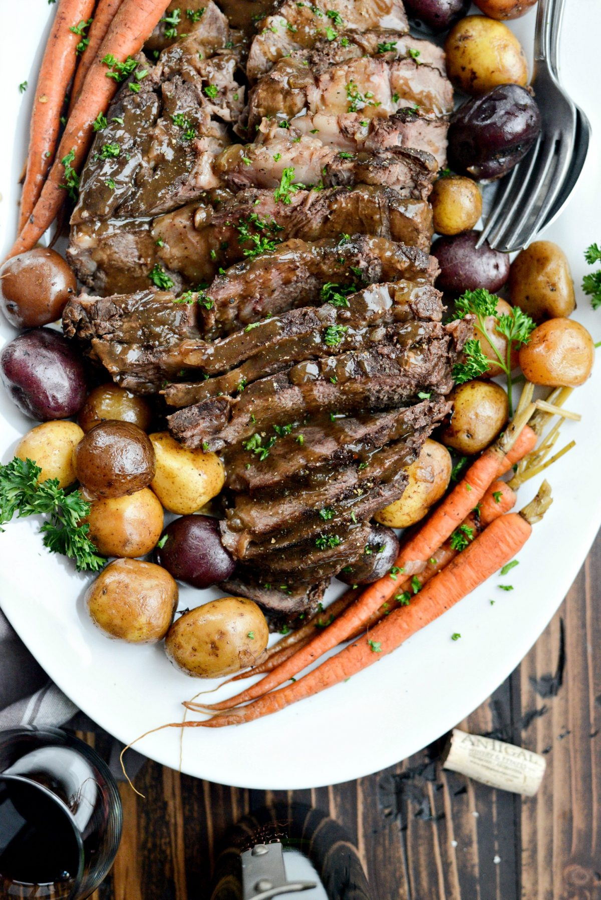 Slow Cooker Balsamic Dijon Pot Roast l SimplyScratch.com (12)