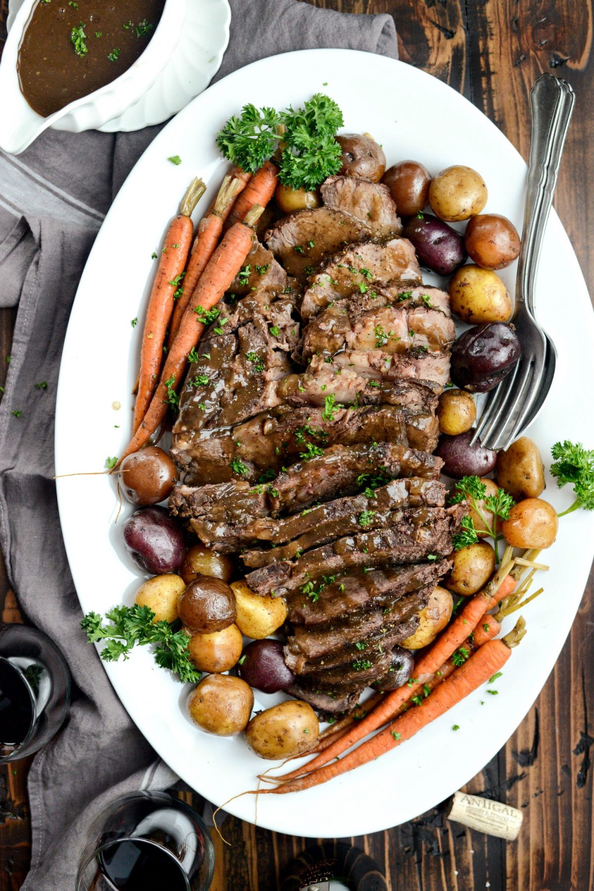 Slow Cooker Balsamic Dijon Pot Roast l SimplyScratch.com (13)