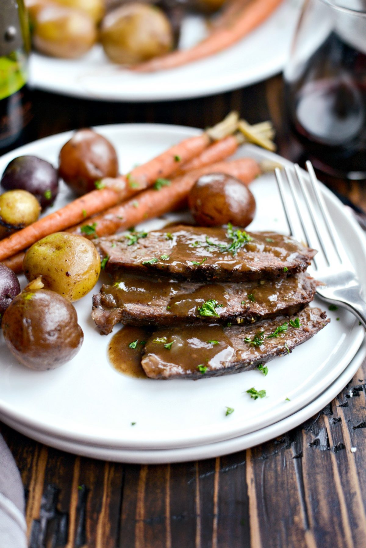Slow Cooker Balsamic Dijon Pot Roast l SimplyScratch.com (15)