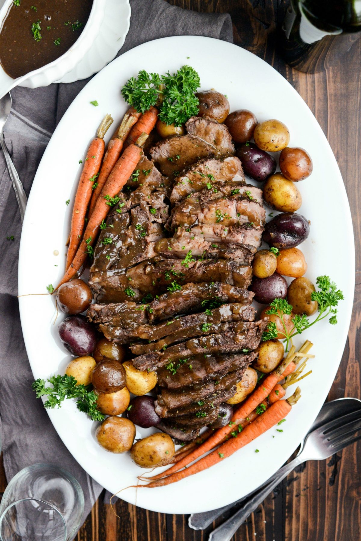 Slow Cooker Balsamic Dijon Pot Roast l SimplyScratch.com (9)