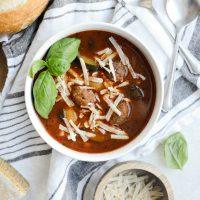 Slow Cooker Italian Meatball Vegetable Soup