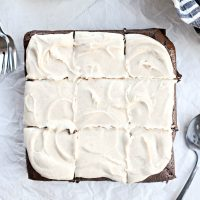 Chocolate Guinness Brownies with Brown Butter Stout Frosting