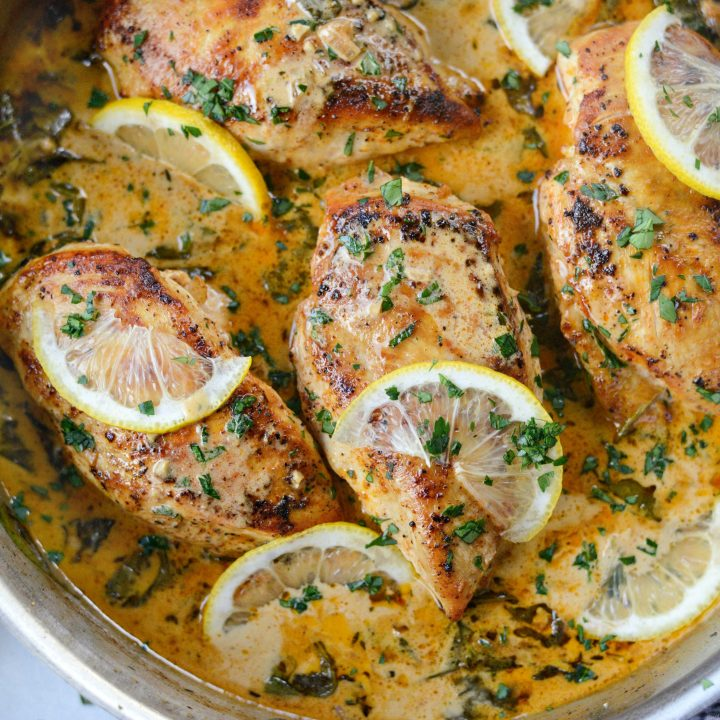 Creamy Lemon Chicken with Spinach