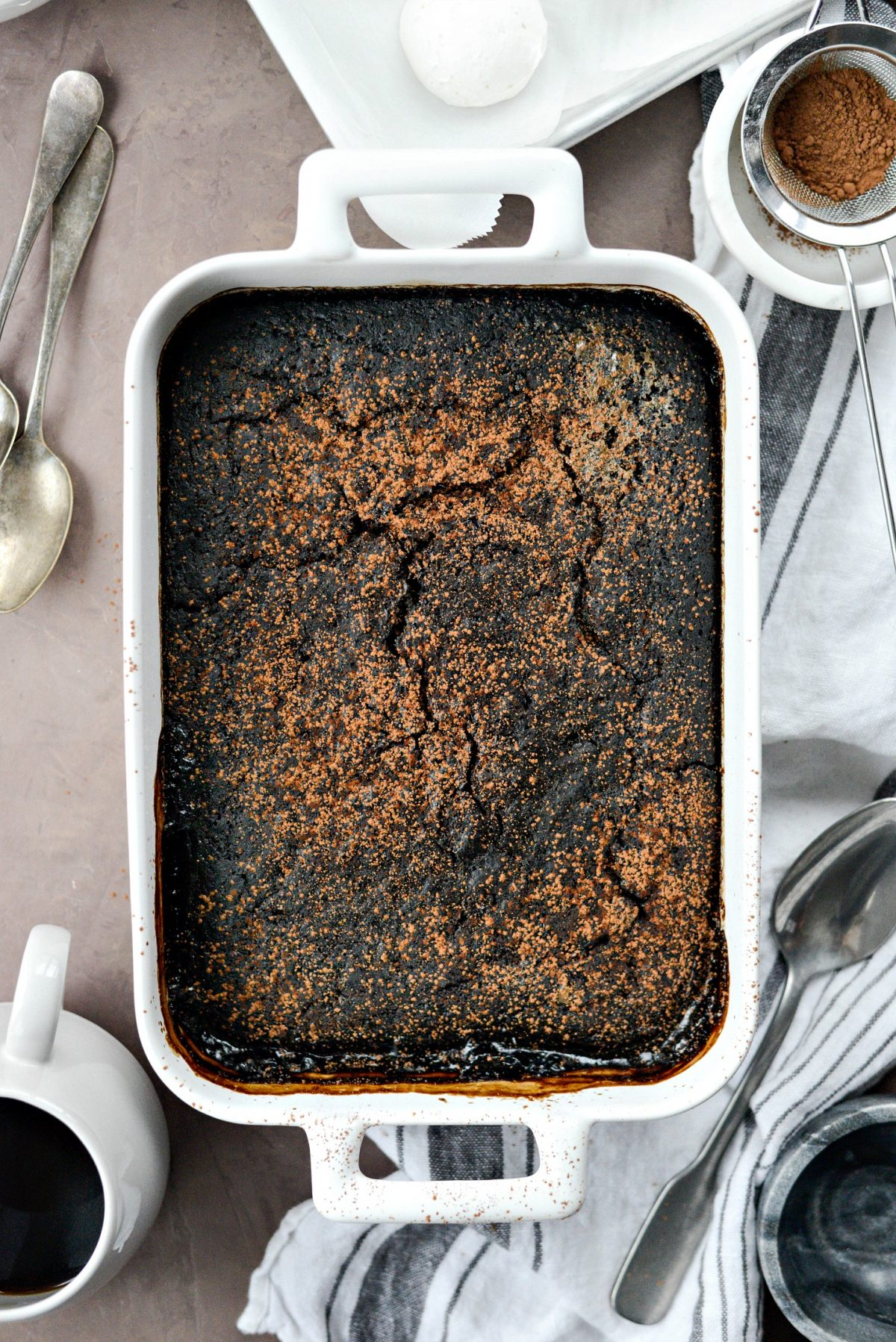 Dark Chocolate Espresso Pudding Cake l SimplyScratch.com (11)