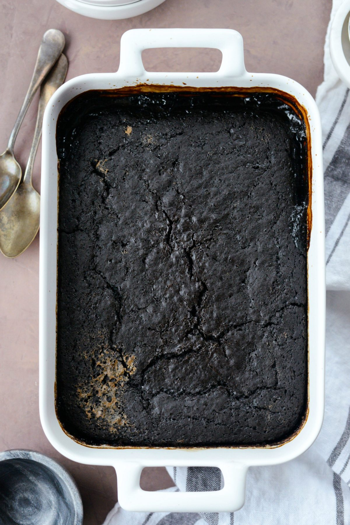 Dark Chocolate Espresso Pudding Cake l SimplyScratch.com (9)