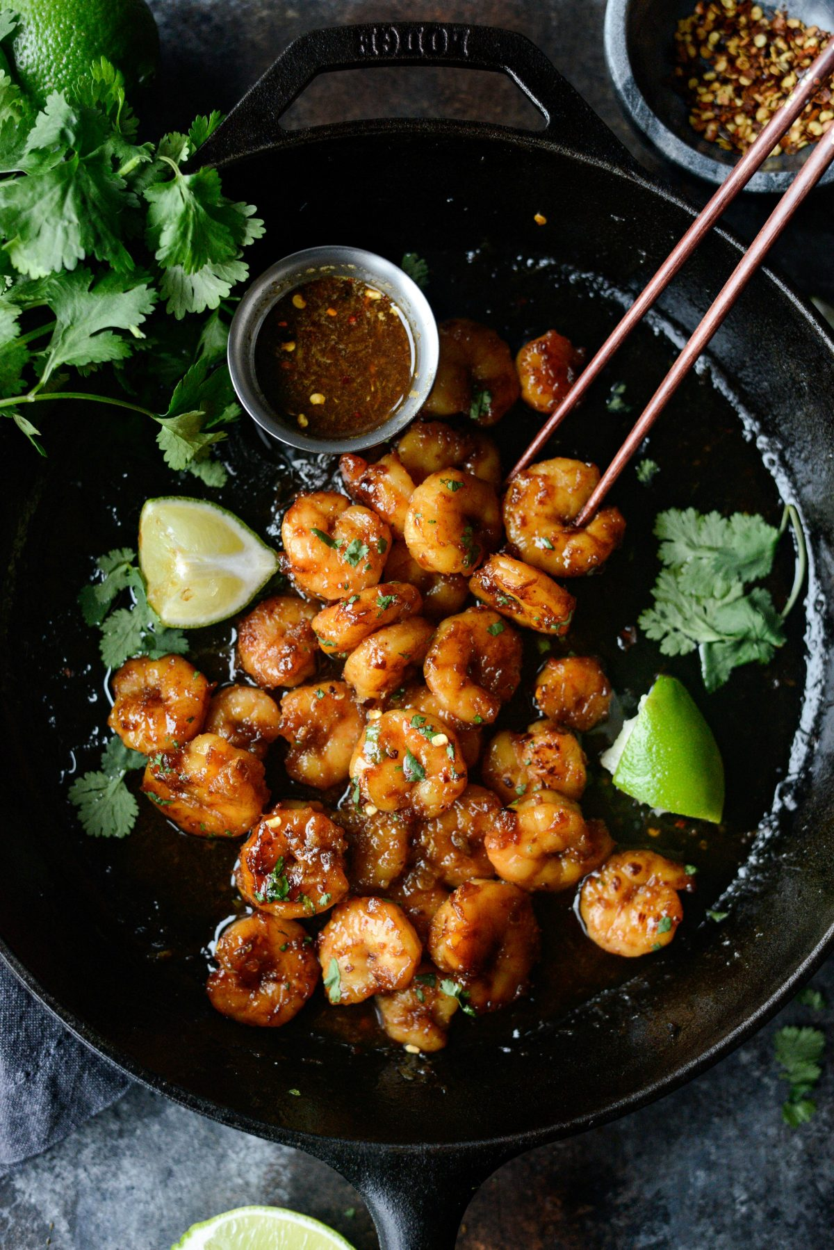 Glazed Hot Honey Garlic Shrimp l SimplyScratch.com (19)