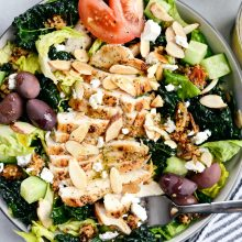 Modern Greek Kale Salad l SimplyScratch.com (11)