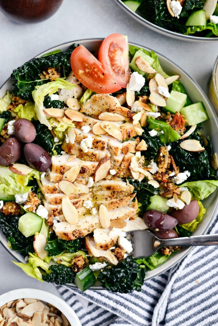 Modern Greek Kale Salad