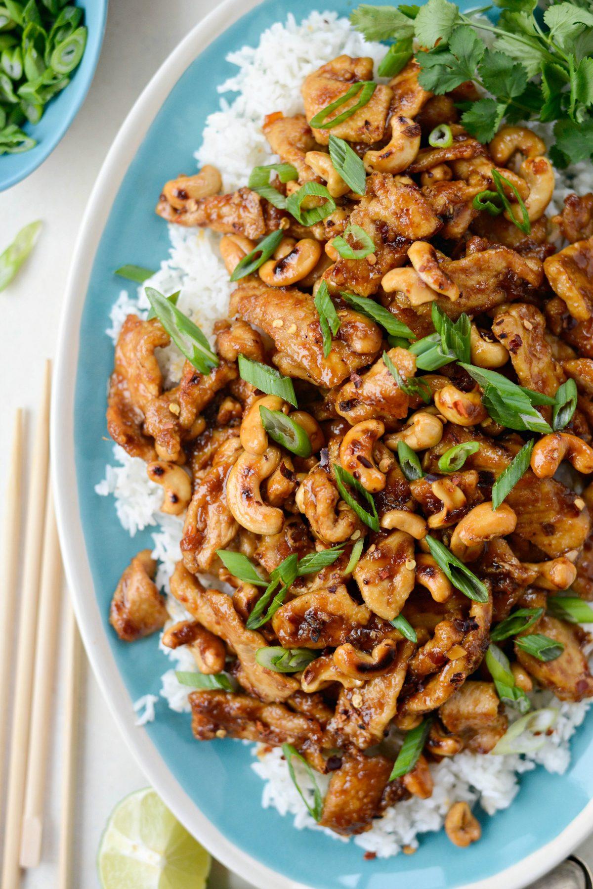 Spicy Ginger Cashew Pork - Easy Weeknight Meals