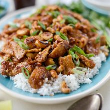 Spicy Ginger Pork Cashew Pork l SimplyScratch.com (16)