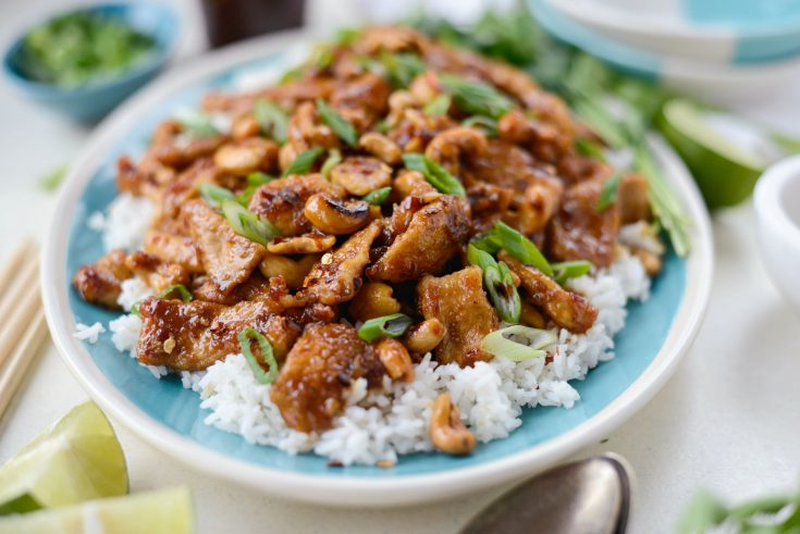 Spicy Ginger Cashew Pork Simply Scratch