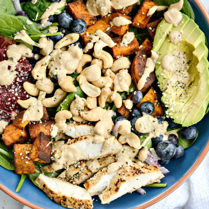 Sweet Potato Blueberry Power Bowl