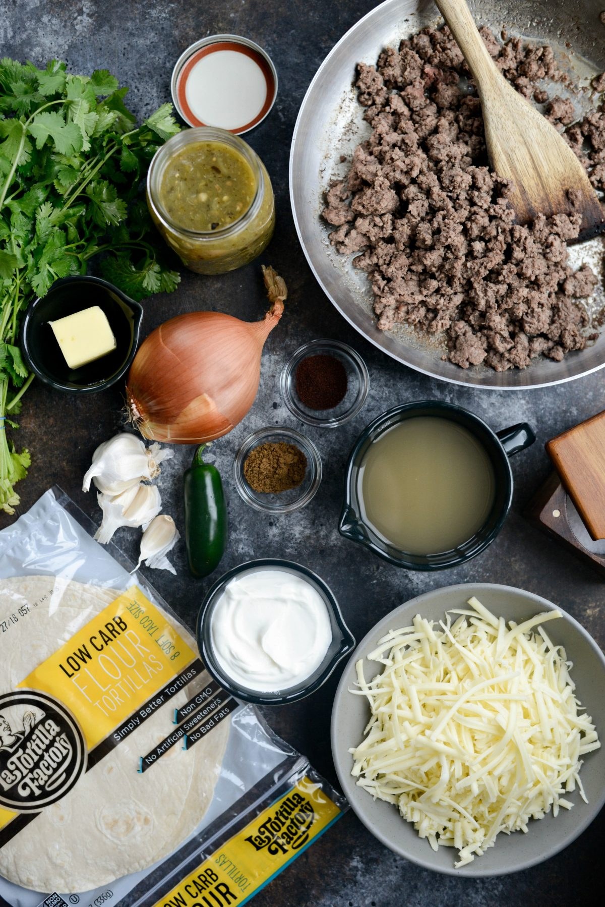 Cheesy Beef Enchiladas Verde l SimplyScratch.com (1)