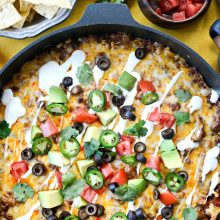 Cheesy Mexican Beef and Rice Skillet l SimplyScratch.com (16)