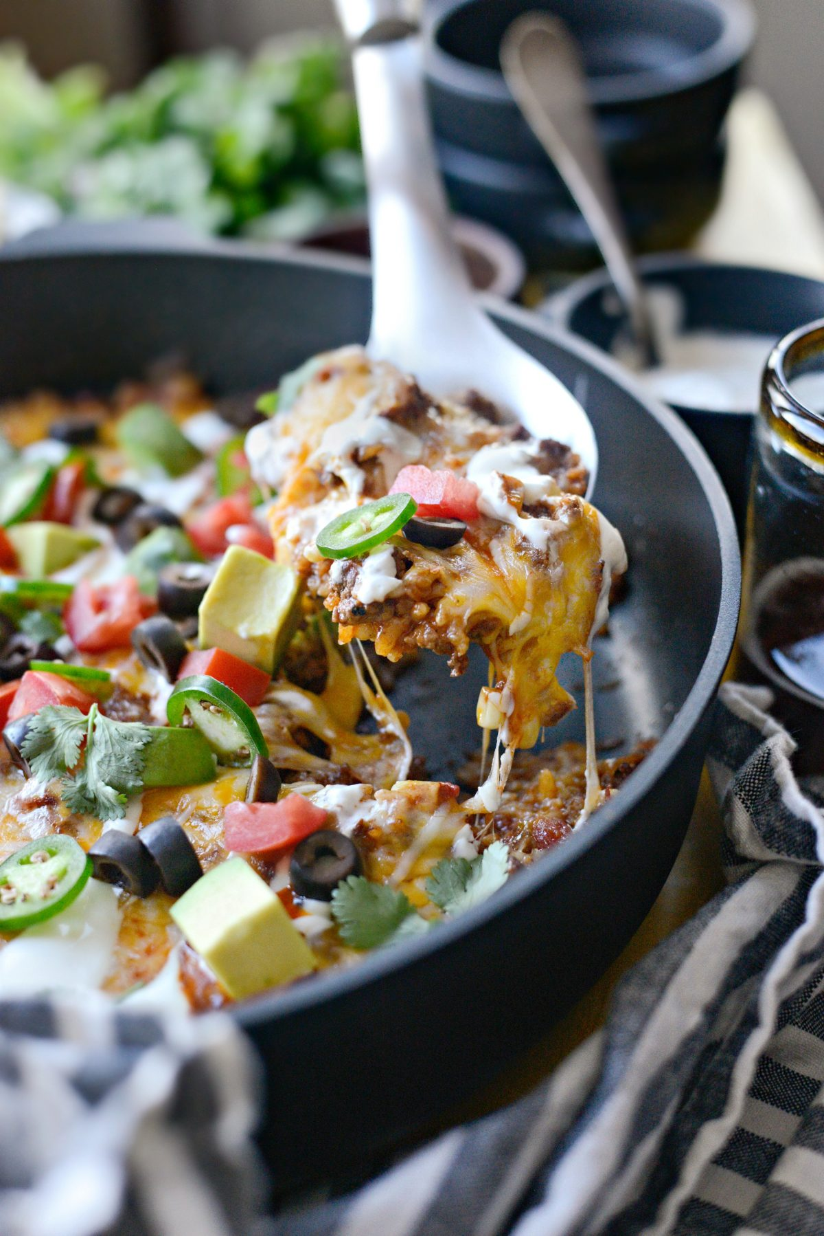 Cheesy Mexican Beef and Rice Skillet l SimplyScratch.com (19)