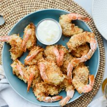 Air Fryer Coconut Shrimp with Pineapple Cococnut Dip l SimplyScratch.com (16)