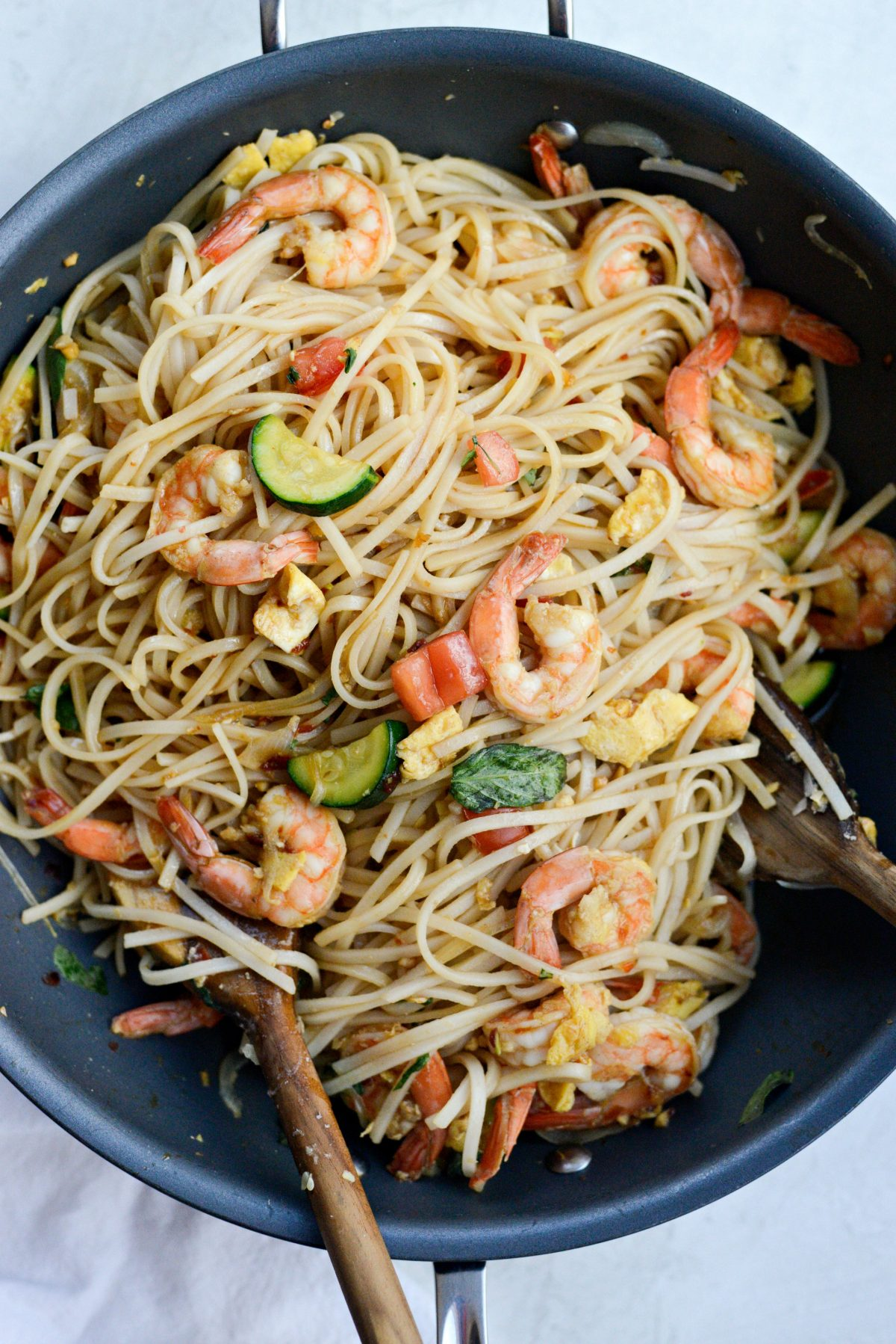 Drunken Noodles with Shrimp and Zucchini l SimplyScratch.com (21)