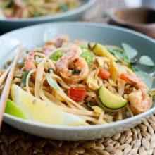 Drunken Noodles with Shrimp and Zucchini l SimplyScratch.com (24)