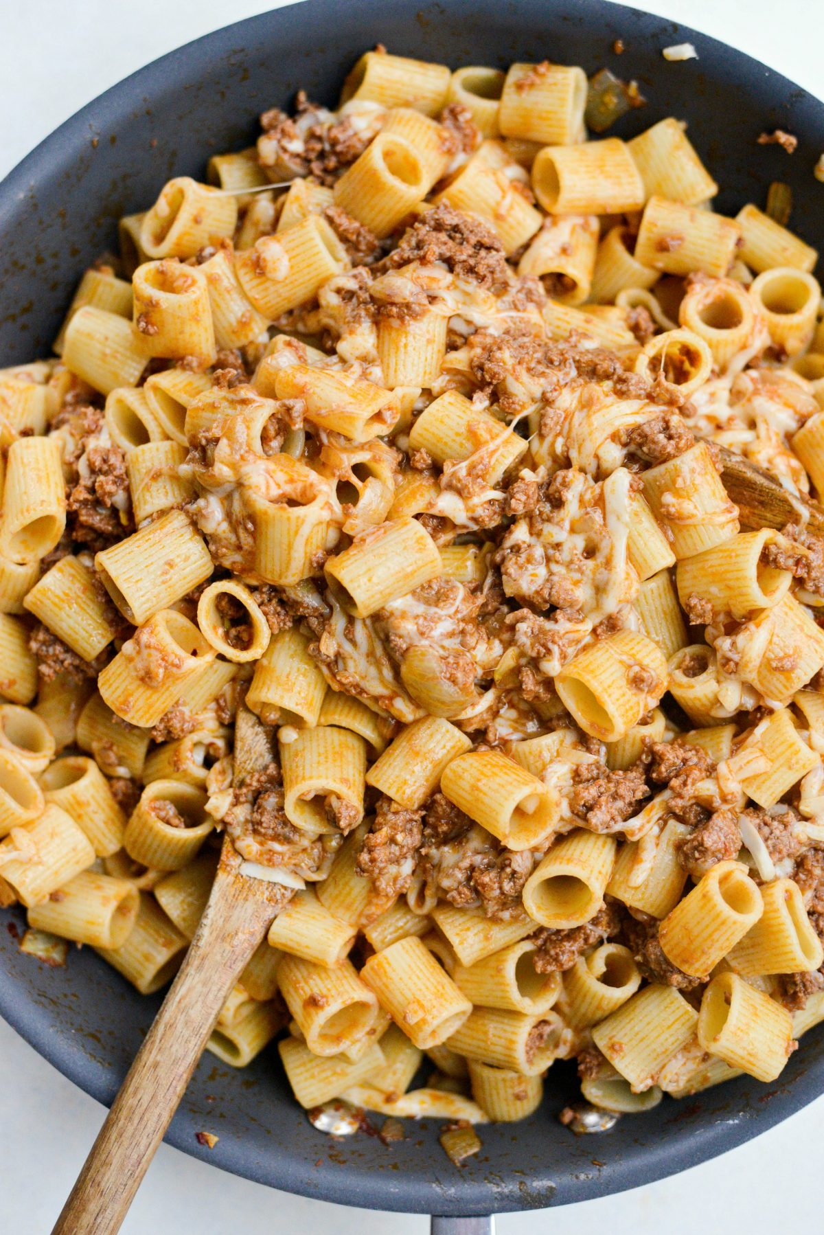 Easy Cheesy Beef Pasta Skillet l SimplyScratch.com (11)