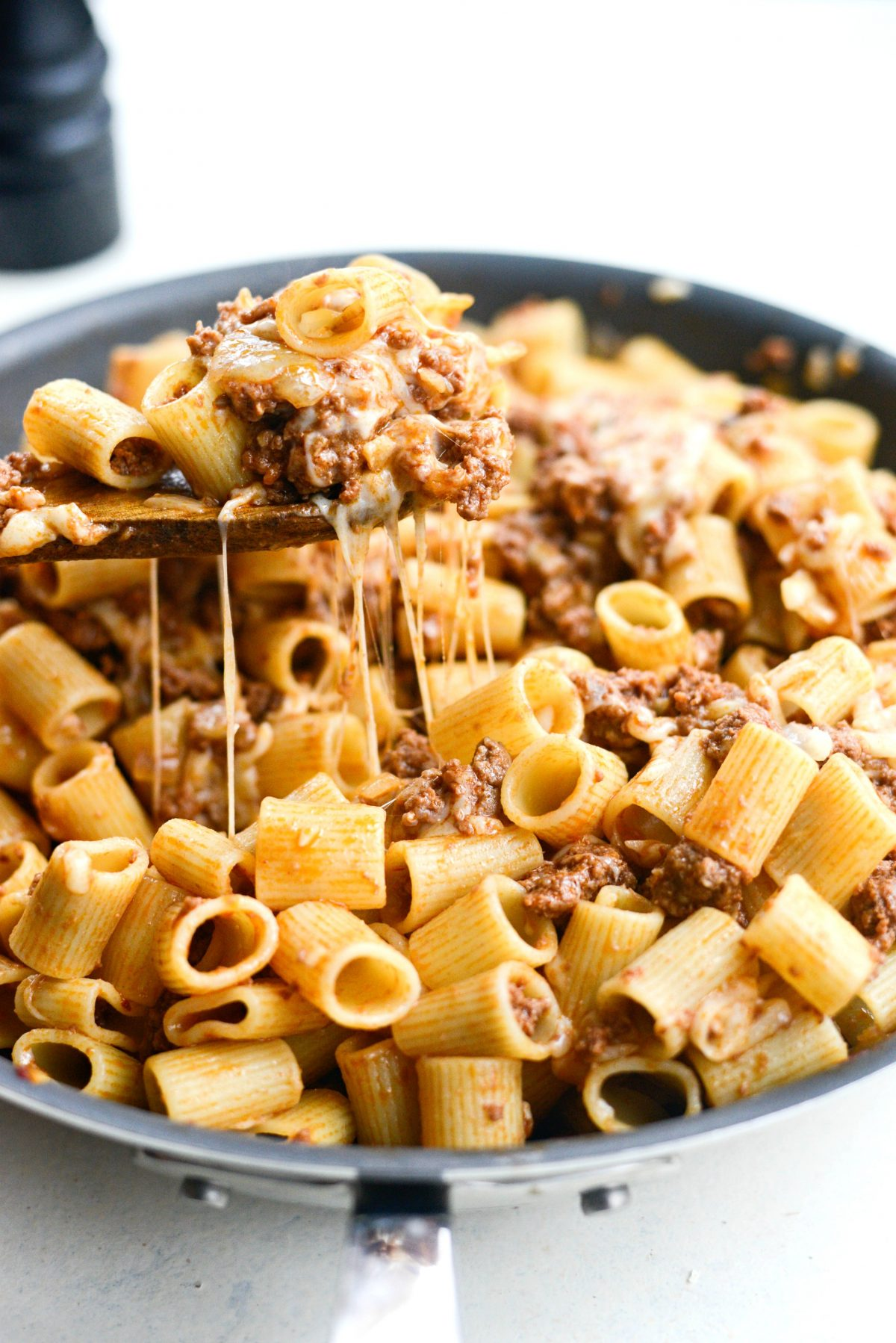 Easy Cheesy Beef Pasta Skillet l SimplyScratch.com (12)