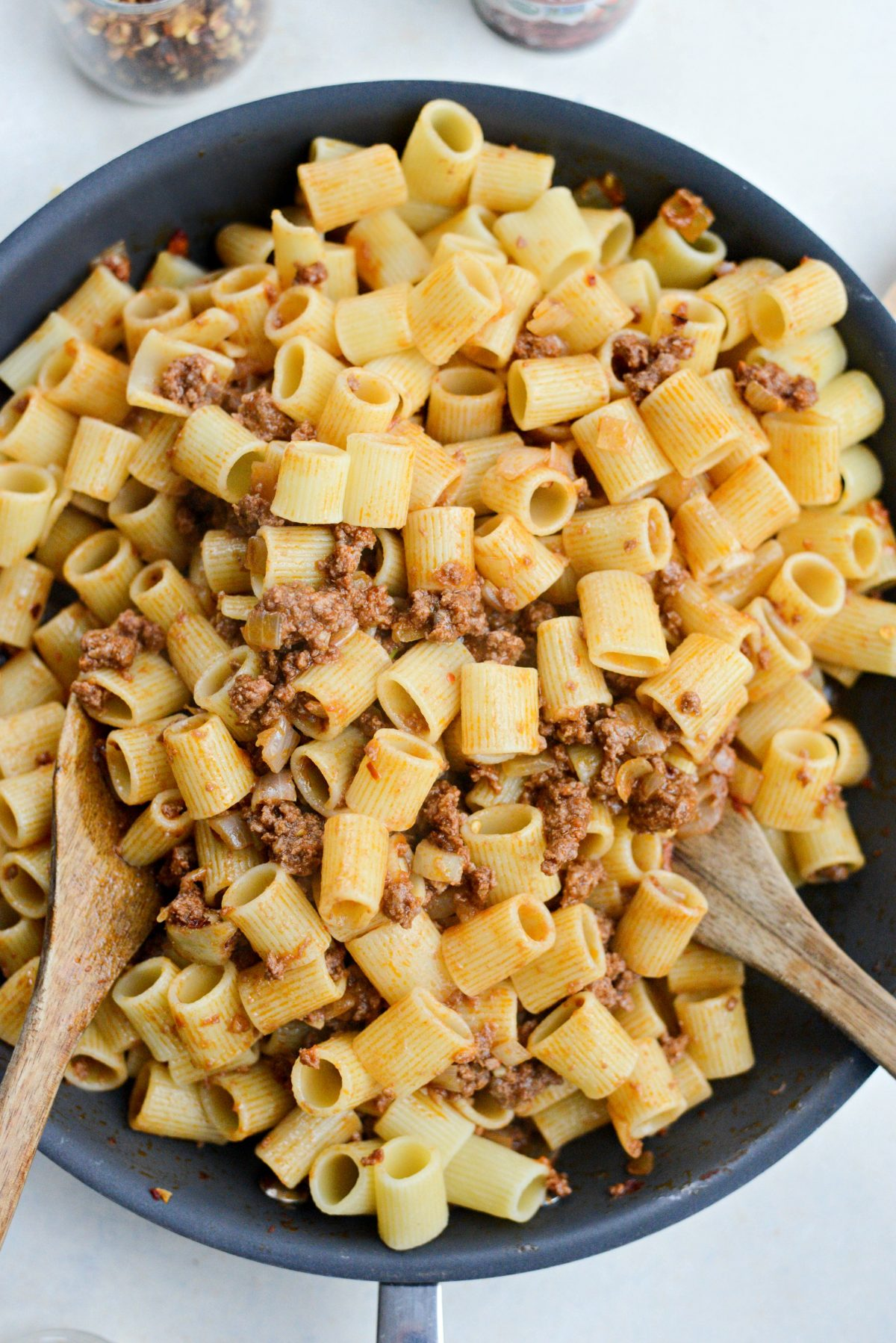 Easy Cheesy Beef Pasta Skillet l SimplyScratch.com (9)