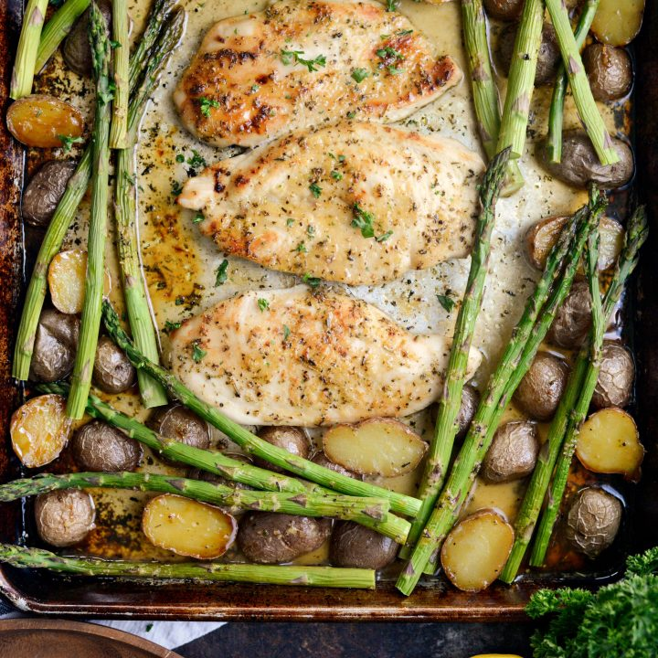 Honey Dijon Chicken Sheet Pan Dinner