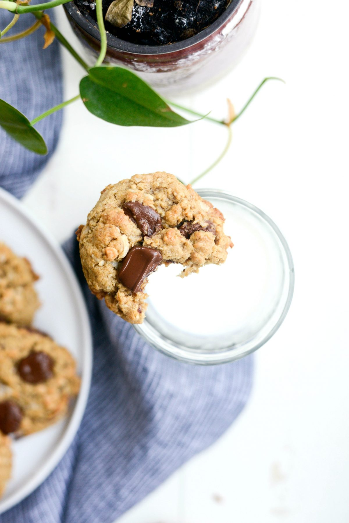 Oatmeal Chocolate Chip Toffee Cookies l SimplyScratch.com