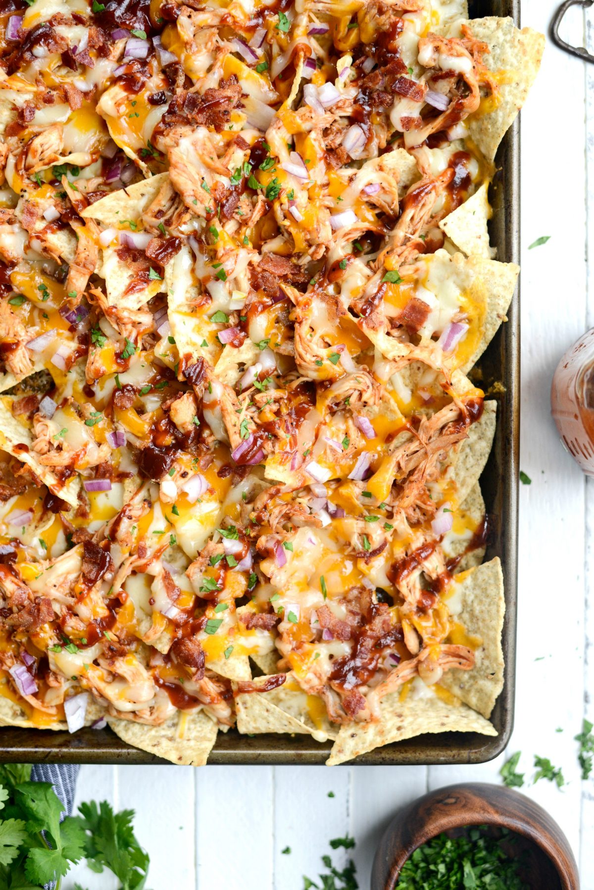 Sheet Pan BBQ Chicken Nachos l SimplyScratch.com (10)