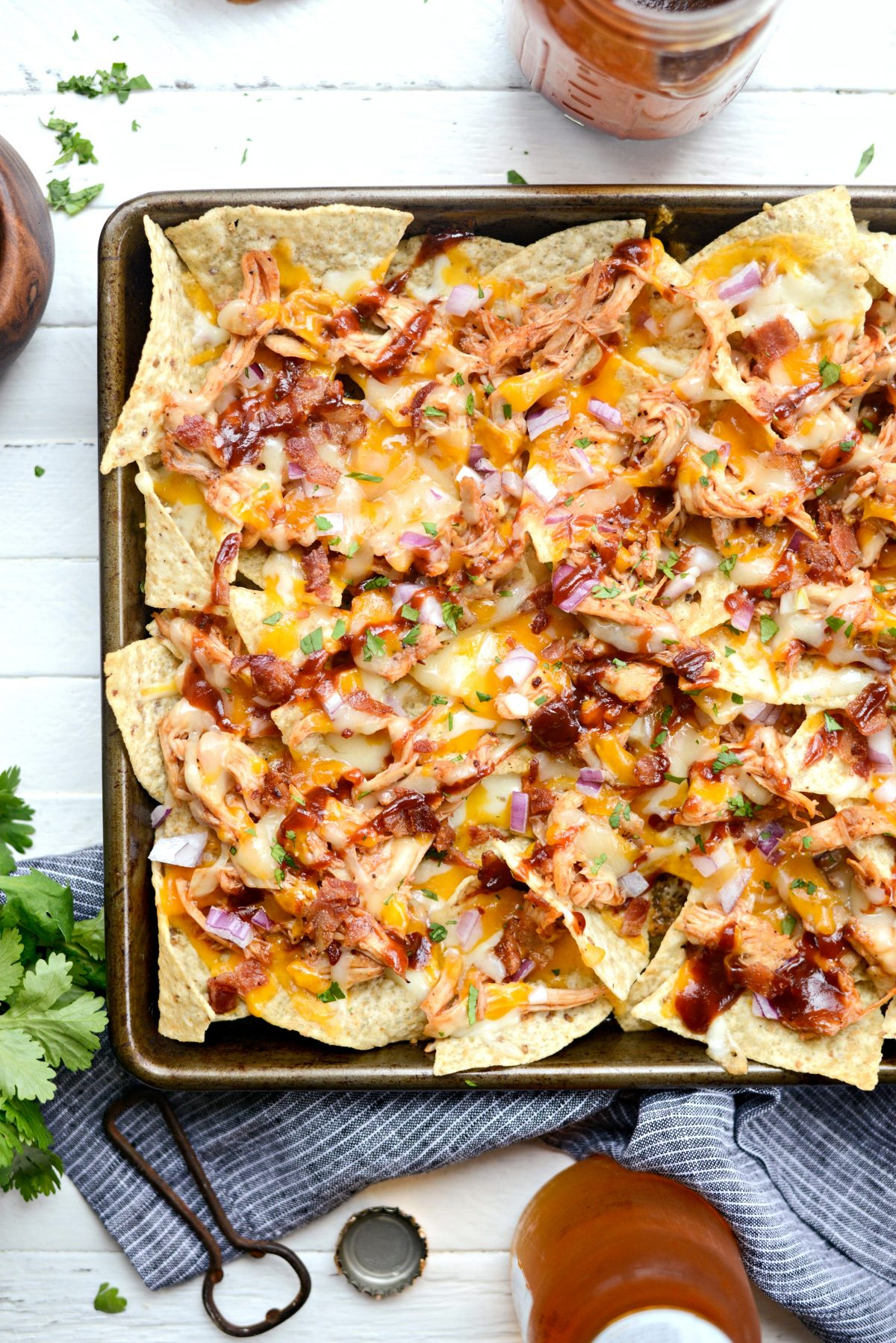 Sheet Pan BBQ Chicken Nachos l SimplyScratch.com (14)