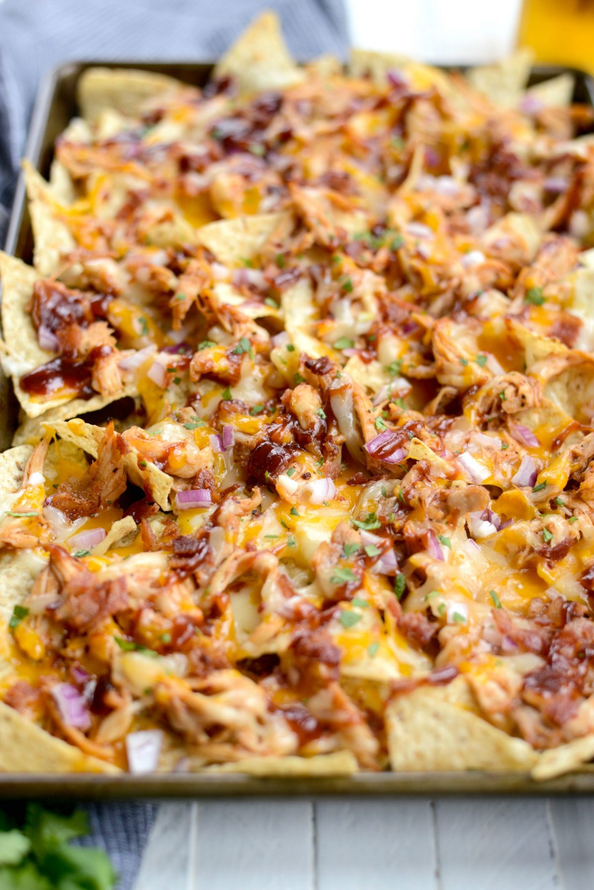 Sheet Pan BBQ Chicken Nachos l SimplyScratch.com (17)