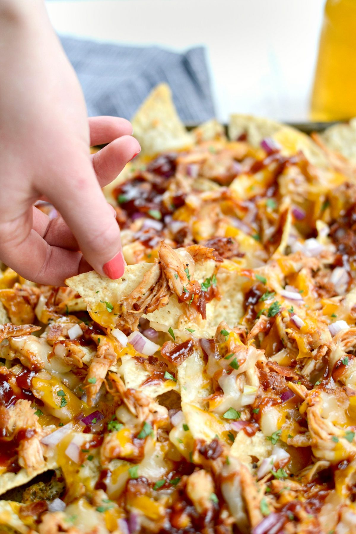 Sheet Pan BBQ Chicken Nachos l SimplyScratch.com (19)