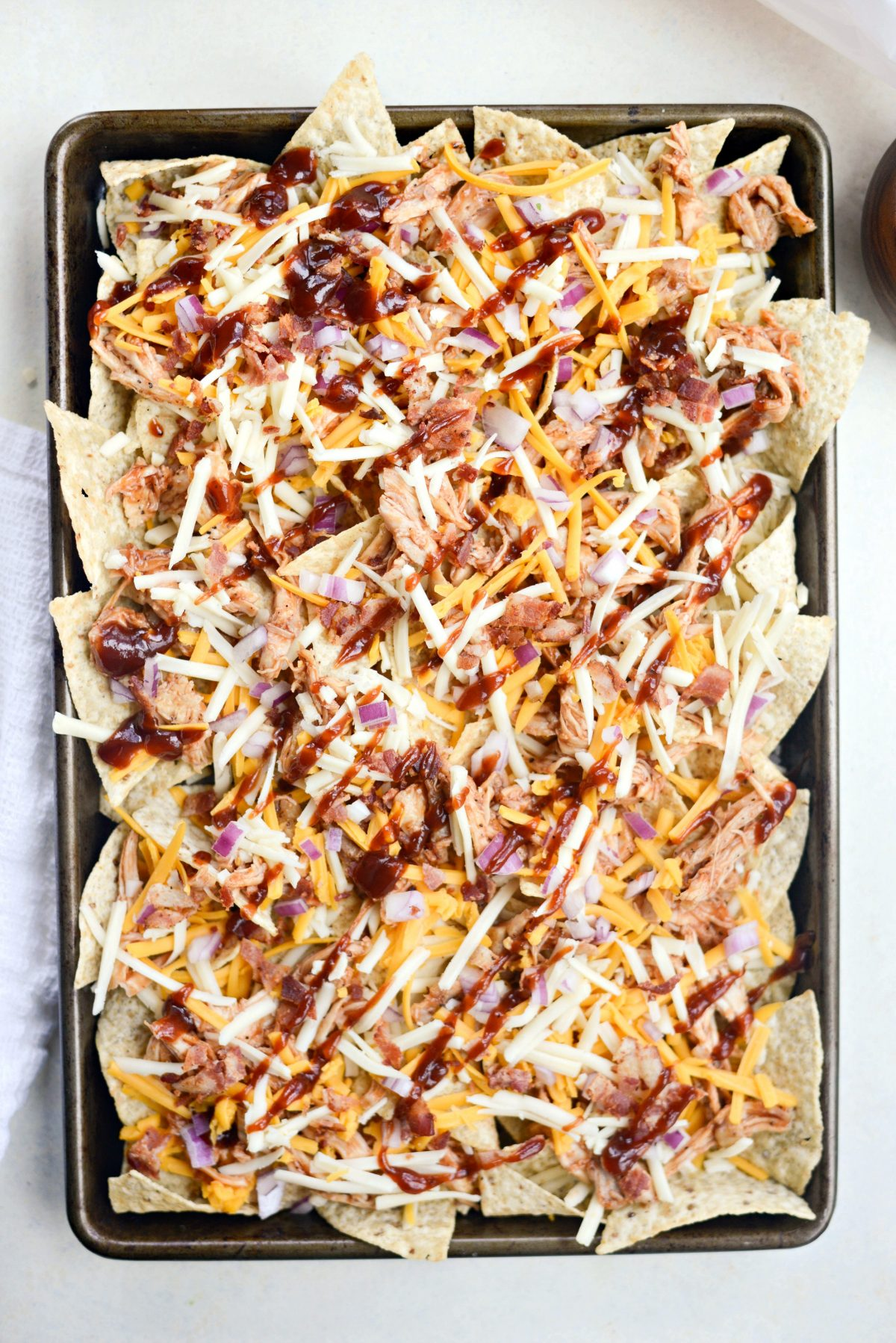 Sheet Pan BBQ Chicken Nachos l SimplyScratch.com (8)