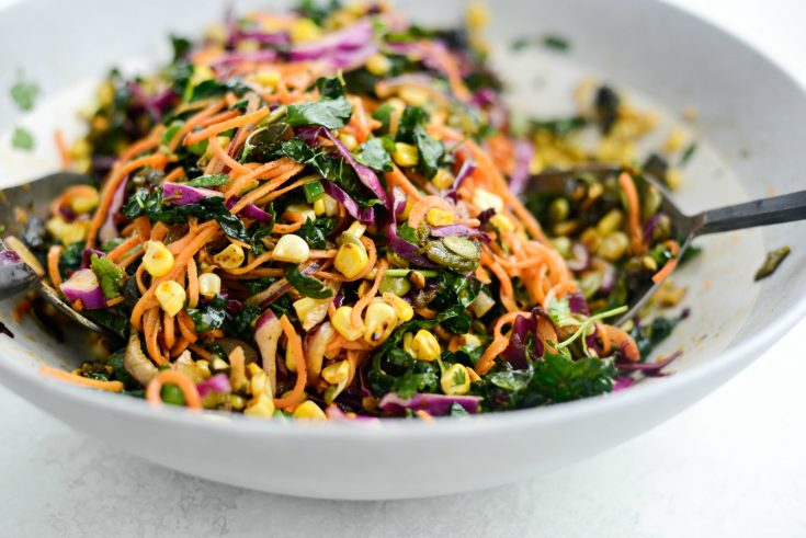 Mexicali Sweet Potato Noodle Salad with Roasted Poblanos and Corn