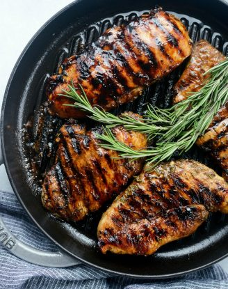 Balsamic Rosemary Grilled Chicken l SimplyScratch.com